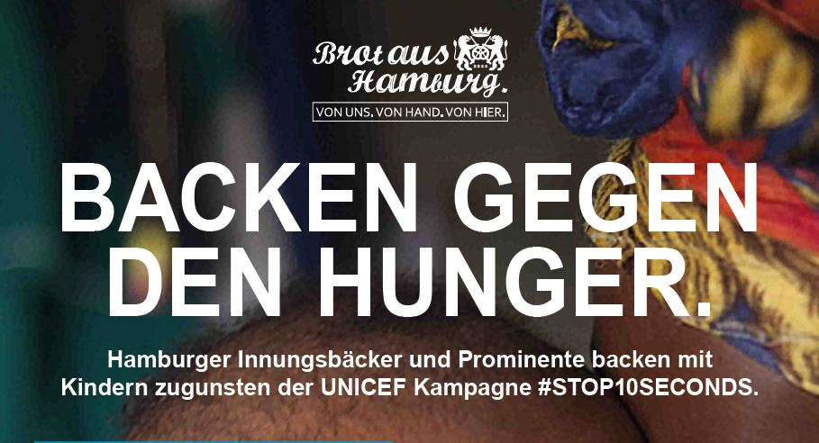 Große Back- und Spendenaktion der Bäcker-Innung Hamburg zugunsten von UNICEF Hamburg