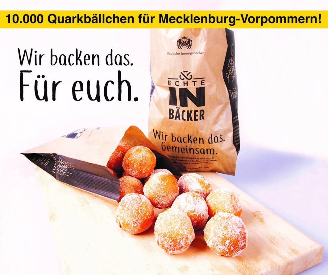 Wir backen das – 10.000 Quarkbällchen für Mecklenburg-Vorpommern