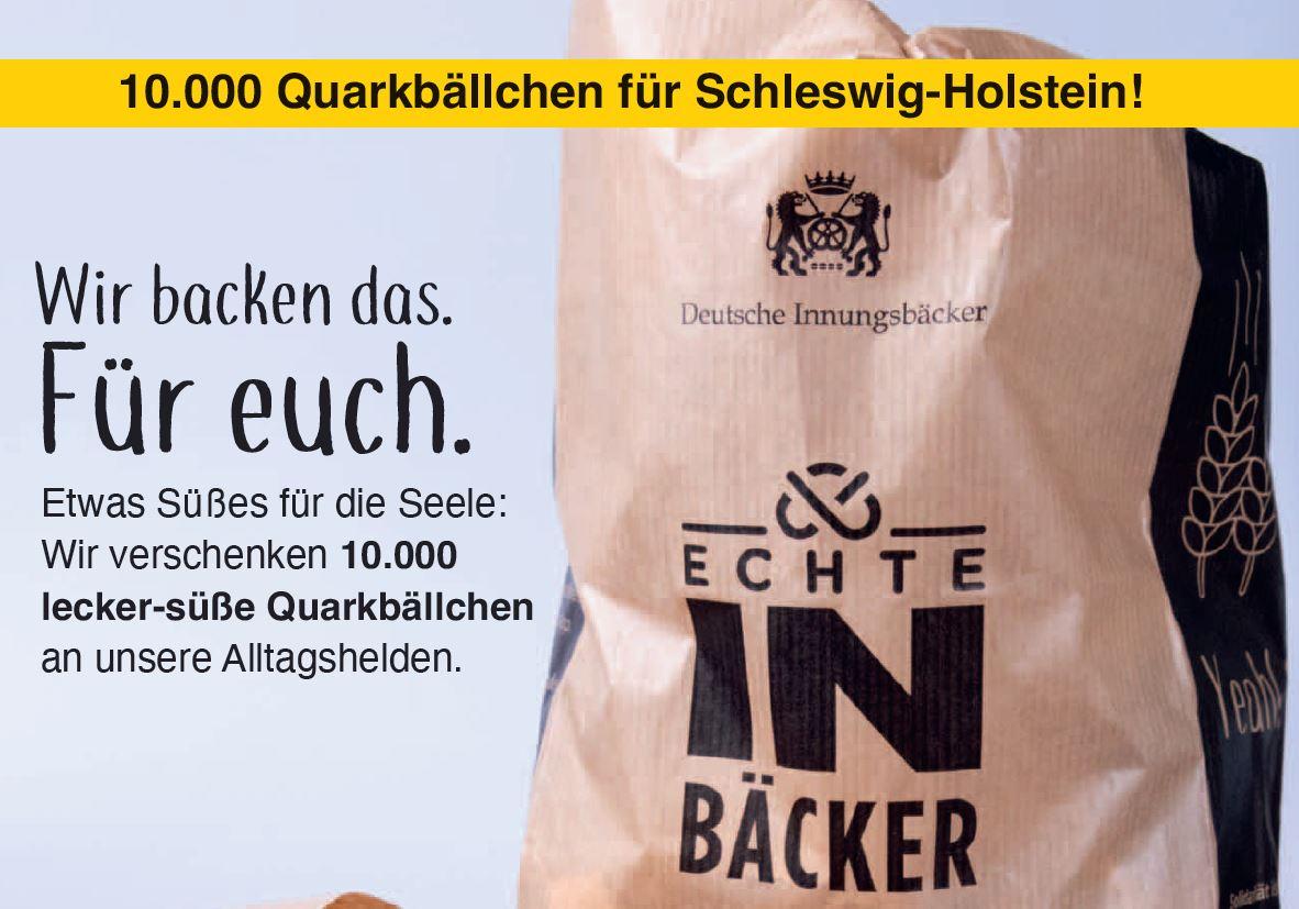 Wir backen das – für euch: 10.000 Quarkbällchen für Schleswig-Holstein